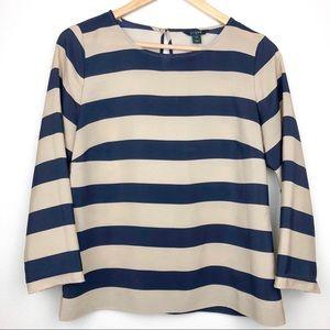 J. Crew striped blouse